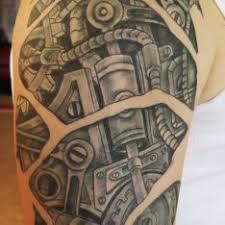 Tetování Biomechanika Rameno Tetování Tattoo