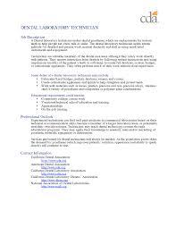 Resume For Dental Technician Resume For Study