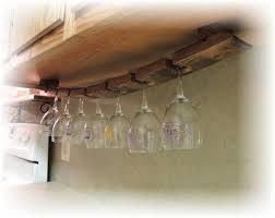 under cabinet wine glass rack. Unique Under Wine Barrel Stave Under Cabinet Hanging Glass Rack By CorkToBarrel 4000 For E