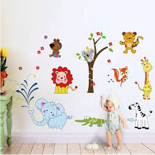 Животные Лев <b>наклейки</b> на стену в виде слона ДЖУНГЛИ ...