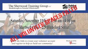 habitat for humanity volunteer day november 11