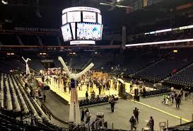 Bridgestone Arena Section 119 Basketball Seating
