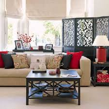 Decorations:Living Room Asian Style Interior Design With Wooden Roof  Awesome Spring Blossom Living Room