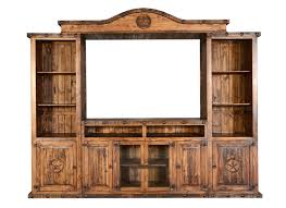Old West Rustic Entertainment Center W Stars Rustic Entertainment Center E82