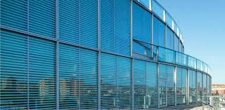 panel curtain wall metal and glass