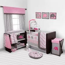 Pink And Grey Bedroom Baby Girl Bedroom Set Nursery Bedding Elephants Pink Grey 10 Pc