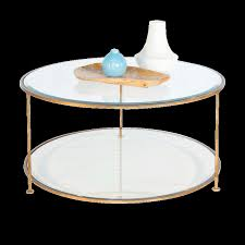gold leaf iron round coffee table with beveled glass tops zoom