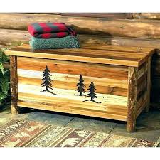rustic hope chest blanket carvings reclaimed furniture w tree wooden how to make white distressed ha