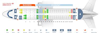 A319 Seating Chart Seat Map Airbus A319 100 Air Canada Best Seats In Plane