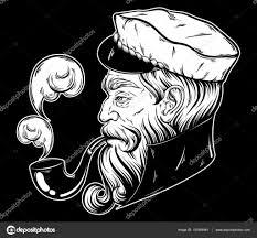 Vector Hand Getekende Illustratie Van Kapitein Stockvector