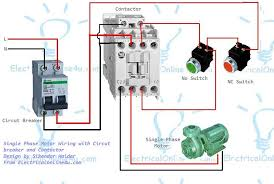 the complete guide of single phase motor wiring circuit breaker the complete guide of single phase motor wiring circuit breaker and contactor diagram