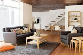 White Wall Paint Decorating In Modern Living Room With Wooden Laminating  Flooring Also Grey Soft Carpet ...