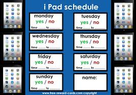 Ipad Schedule For Kids Website