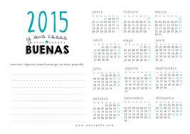 Calendarios 2015 Para Imprimir Wacapaka