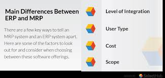 mrp vs erp key differences between