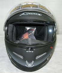 Akuma Helmet Size Chart 3xl Akuma Stealth Motorcycle Helmet Matte Black With Built