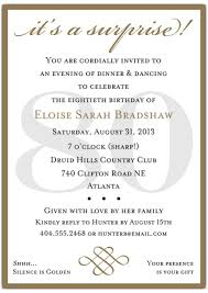 surprise th birthday party invitation templates stunning 80th birthday invitation wording templates