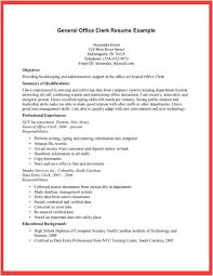 Office Clerk Resume Examples Best Photos Of Office Clerk Resume