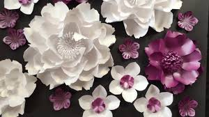 Paper Flower Wedding Backdrops Paper Flowers Wedding Backdrop