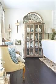 farmhouse living room images. french farmhouse living room- display cabinets room images