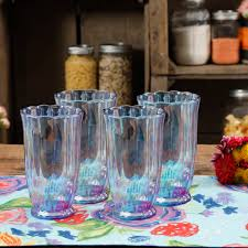 the pioneer woman er blue 15oz pearlized tumbler set of 4 com