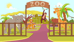 zoo animals in cages clipart. Contemporary Zoo Animals Behind Fence And Zoo Sign Vector Art Illustration And Zoo In Cages Clipart M