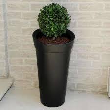 creston black polyethylene tall planter