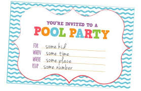 invitation party templates free graduation pool party invitation template for word