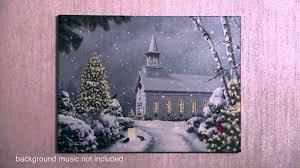 Lighted Christmas Artwork Christmas Church Led Lighted Canvas Art