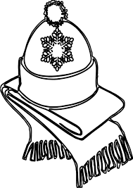 Small Picture Winter Hat And Weft Coloring Page Wecoloringpage