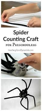 preschool art table. Spider Counting Craft Preschool Art Table