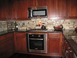 backsplash ideas for black granite countertops. Kitchen Glamorous Backsplash Cherry Cabinets Black With Ideas For Granite Countertops U