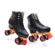 2019 japy black geniune leather roller skates double line skates men women black pu 4 wheels two line skating shoes patines from sunnystars