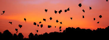 Graduation Cover Photo Graduation Hats Flying In Sunset Facebook Cover