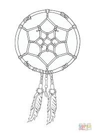 Small Picture Native American Dreamcatcher coloring page Free Printable