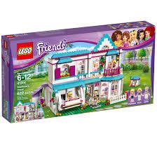 lego friends stephanie s house 41314 toy dollhouse playset 622 pcs walmart