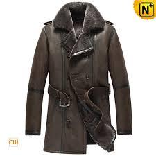 mens sheepskin pea coat cw856080 cwmalls com