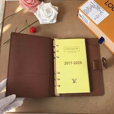 replica louis vuitton monogram canvas desk agenda notes refill m2005 id 32791