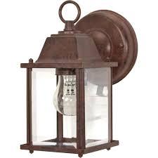 nuvo 1 light 9 wall lantern cube lantern w clear beveled glass 60