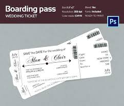 Wedding Ticket Invitations Template Free Airline Invitation Plane ...