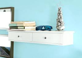 wall mounted shelf with drawer floating 2 drawers unit wall mounted shelf with drawer
