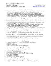 resumes for excavators heavy equipment operator sample resume resumes for excavators heavy equipment operator sample resume patrick johnson
