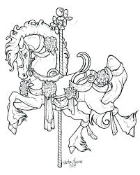 Carousel Horse Coloring Pages Printable Carousel Horses Coloring