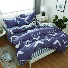 dark blue bedding set duvet cover quilt cover pillow cases 3 soft home textiles blue and white stripes good quality best duvet covers daybed comforter sets