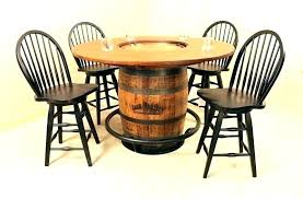 barrel table and chairs whiskey barrel table for furniture chairs whiskey barrel table set barrel table