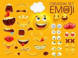Yellow Smiley Face Emoji Character For Your Scenes Template