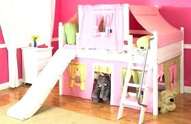 bunk bed with slide and tent. Kid Bed With Slide Tent Bunk And