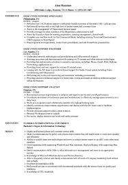 Executive Support Resume Samples Velvet Jobs