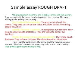 rough draft essay example co rough draft essay example
