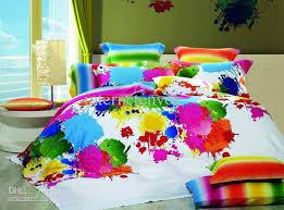 multicolor inkjet full queen bedding set bedclothes egyptian cotton duvet quilt cover bed sheet comforter set 4pc or 5pc textile